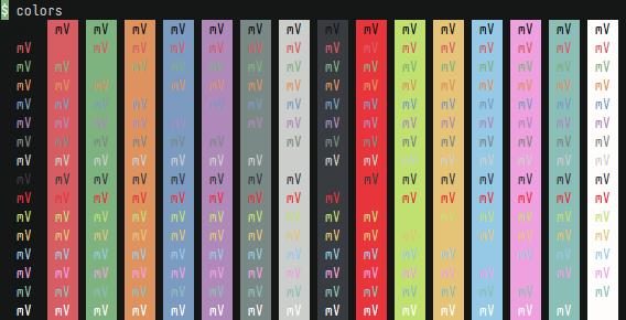 terminal colors